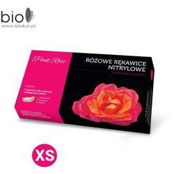 Rękawice nitrylowe PINK ROSE z alantoiną i kolagenem rozmiar XS - 100 szt