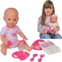 Lalki dla dzieci, Lalka New Born Baby - Bobas z akcesoriami, 38 cm