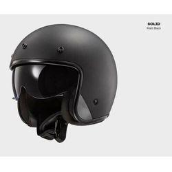 KASK MOTOCYKLOWY OTWARTY JET BOBEREK OF601 BOB SOLID MATT BLACK - nowość 2021