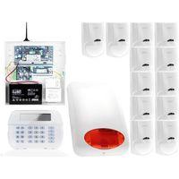 Zestawy alarmowe, ZA12551 Zestaw alarmowy DSC 12x Czujnik ruchu Manipulator LCD Powiadomienie GSM