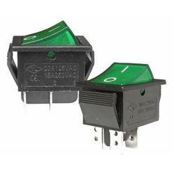 Przełącznik AC 220V podświetlany, zielony MK621 (P006)