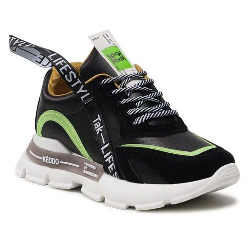 Damskie obuwie sportowe, Sneakersy KEDDO - 817619/01-03E Black