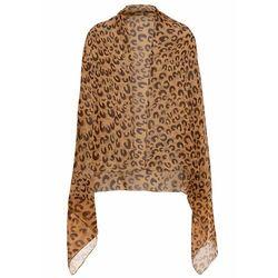 Pareo bonprix brązowo-kremowo-beżowy leo