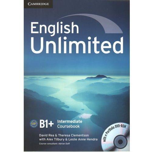 Książki do nauki języka, English Unlimited Intermediate CourseBook w/e-portofolio /DVD gratis/ (opr. miękka)