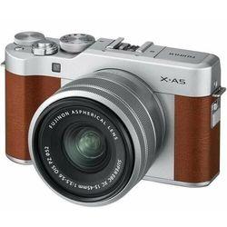FujiFilm aparat fotograficzny X-A5 + XC 15-45 mm, brązowy