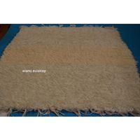 Wycieraczki, Chodnik bawełniany (wycieraczka) ręcznie tkany ecru, w środku pas nieco ciemniejszy 65x50