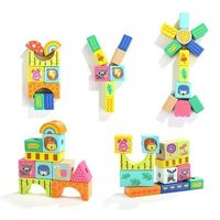 Zabawki z drewna, Klocki drewniane TOP BRIGHT Las 38 elementów - DARMOWA DOSTAWA OD 250 ZŁ!!