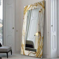 MIRROR GLAM - duża artystyczna ręcznie wykończona rama do lustra rabat 40%