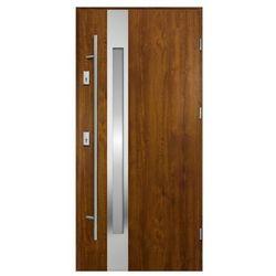 Drzwi zewnętrzne O.K. Doors Arctica 90 prawe złoty dąb z antabą/pochwytem