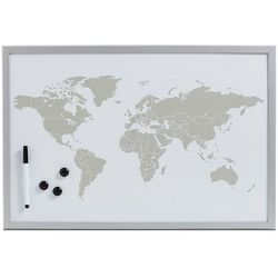 Tablica magnetyczna World + 3 magnesy, 60x40 cm, ZELLER