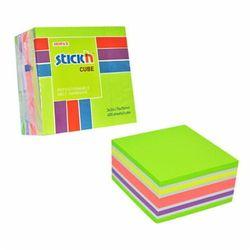 STICKN Notes Kostka 76X76mm 400 kartek MIX ZIELONY/ŻÓŁTY/RÓŻOWY