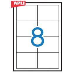 Etykiety uniwersalne APLI, 97x67,7mm, prostokątne, białe 100 ark.