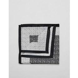 ASOS DESIGN ditsy floral pocket square in black - Black