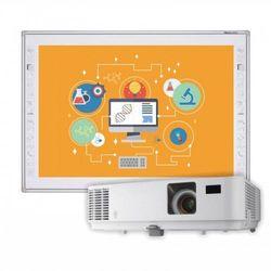 Zestaw! Tablica interaktywna Newlinie R3-800 + projektor Optoma DX318e + kable 10m + głośniki
