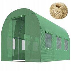 Tunel ogrodowy 2x3m 6m2 zielony szklarnia + sznurek 100m gratis