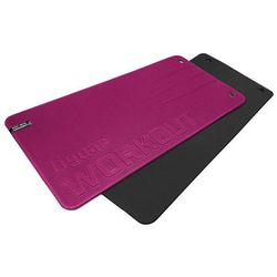 Mata fitness workout tiguar - śliwkowo - czarna