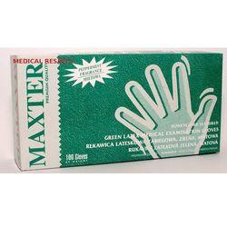 Rękawice lateksowe pudrowane MIĘTOWE Maxter a 100szt. S