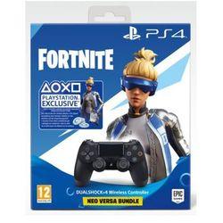 Kontroler bezprzewodowy SONY PlayStation DUALSHOCK 4 v2 Czarny + Zestaw do gry Fortnite: Neo Versa