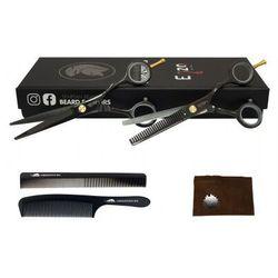 Degażówki + Nożyczki Fryzjerskie 5,5 Strzyżenie Blackos