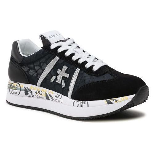 Damskie obuwie sportowe, Sneakersy PREMIATA - Conny 4620 Black/Light Grey/White