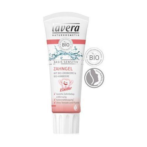 Pasty do zębów dla dzieci, Lavera SENSITIV - Pasta do zębów dla dzieci bez fluoru z wyciągiem z truskawek i malin