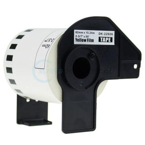 Papiery i folie do drukarek, Zamiennik Brother folia ciągła żółta DK-22606 62mm 15,24m | OSZCZĘDZAJ DO 80% - ZADZWOŃ! 730 811 399