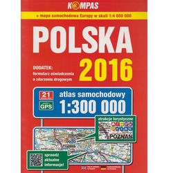 Atlas samochodowy Polska 2016 1:300 000 - Wysyłka od 3,99 - porównuj ceny z wysyłką (opr. miękka)
