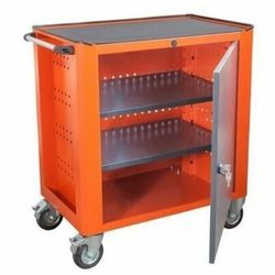 Wózek warsztatowy WWT 75D 2 półki kółka jezdne mikroguma narzędzia