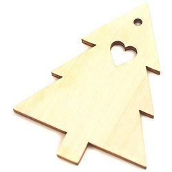 Drewniana dekoracja choinka z sercem - CHO3 Promocja Eko Deco - 02 (-15%)