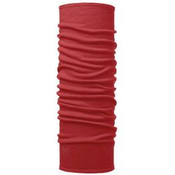 Chusta wielofunkcyjna WOOL MIDWEIGHT - solid cranberry red