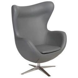 Fotel Jajo Soft skóra ekologiczna 508 szary