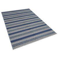 Dywany, Dywan niebiesko-szary - 160x230 cm - wełna - chodnik - kilim - PATNOS