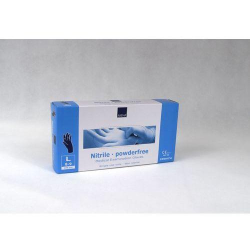 Rękawice robocze, Rękawice nitrylowe niebieskie, ROZMIAR: - M -, OAPKOWANIE: A'200