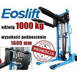 WÓZEK PALETOWY PALECIAK WIDŁOWY MASZTOWY PODNOŚNIKOWY MAKTEK Eoslift HSA1016 1T 1000KG ROZSUWANE WIDŁY GERMANY promocja (--9%)