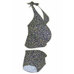 Tankini ciążowe (2 części) bonprix ciemnoniebieski w kropki
