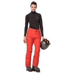 Spodnie narciarskie damskie POWDER MOUNTAIN PANTS W orange coral - 88