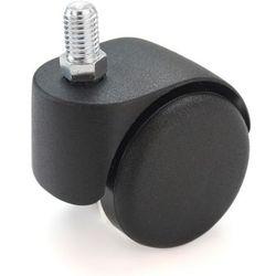 Rolka do krzesła, z gwintem M 10x15, czarne, opak. 5 szt., twarde, do podłóg mię