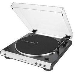 Audio-Technica gramofon AT-LP60xBT, czarny/biały