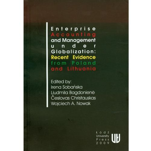 Literatura młodzieżowa, Enterprise accounting and management under globalization: recent evidence from Poland and Lithuania (opr. miękka)