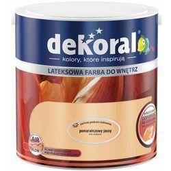 Farba Lateksowa Akrylit W Kolor Pomarańczowy Jasny 2.5l Dekoral