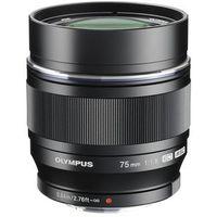 Obiektywy do aparatów, Obiektyw OLYMPUS M.Zuiko Digital ED 75 mm 1:1:8 Czarny
