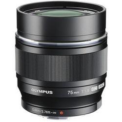 Obiektyw OLYMPUS M.Zuiko Digital ED 75 mm 1:1:8 Czarny