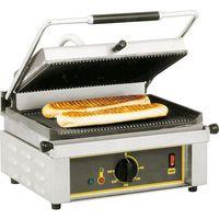 Grille gastronomiczne, Kontakt grill pojedynczy 430x385x220 mm | ROLLER GRILL, PANINI