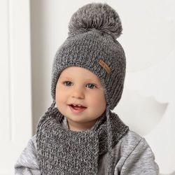 Komplet ajs 40-436 czapka+szalik rozmiar: 44-48cm, kolor: wielokolorowy, ajs