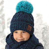Zestawy dodatków dla dzieci, Ciepły komplet czapka + komin ZIMA