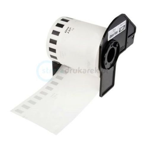 Papiery i folie do drukarek, Taśma Brother DK-22113 folia 62mm x 15.24m do drukarki etykiet QL - zamiennik |OSZCZĘDZAJ DO 80% - ZADZWOŃ! 730811399