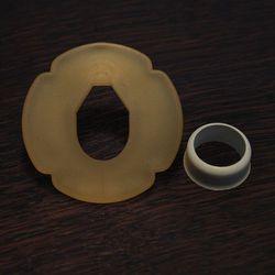tsuba plastikowa biała z gumką