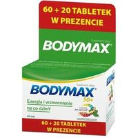 Witaminy i minerały, Bodymax 50+ tabletki x 60+20 sztuk gratis!