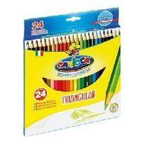 Kredki, Kredki Carioca ołówkowe trójkątne 24 kolorów 42516-24