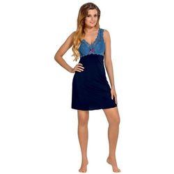 Babella larisa granatowo-niebieska damska koszula nocna